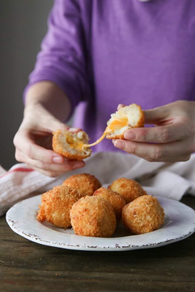 Fried Potato Cheese Balls Joanie Simon