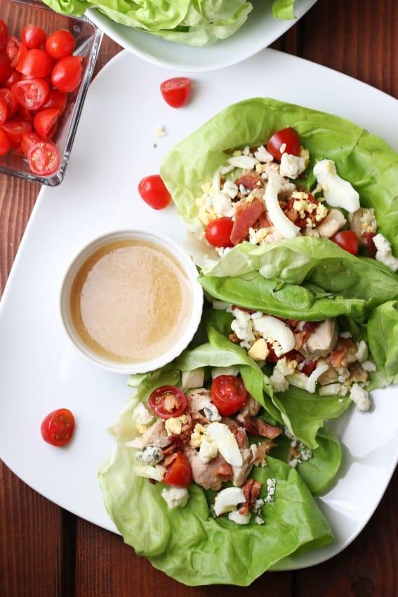 Cobb Salad Lettuce Wraps - easy summer dinner idea