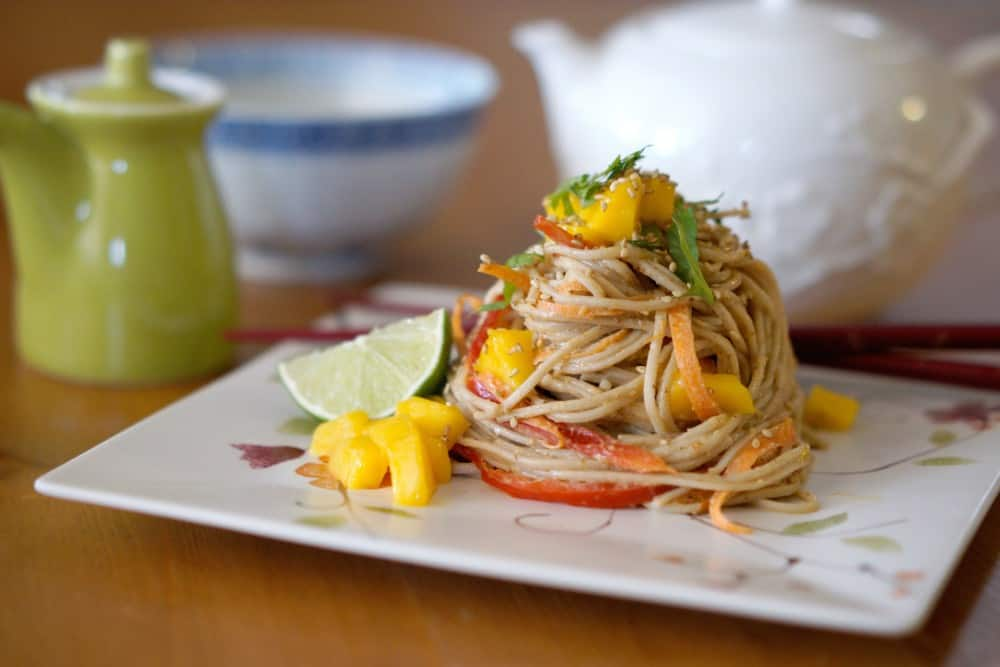 Soba Noodles with Almond Sauce