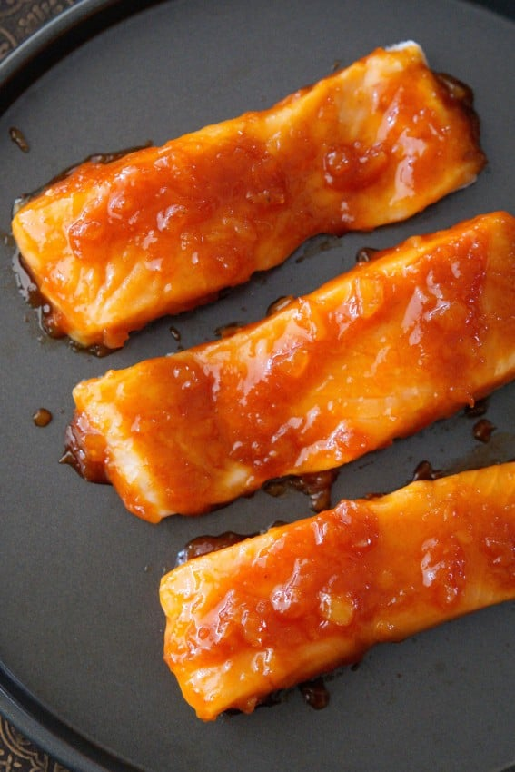 Ketchup Glazed Salmon