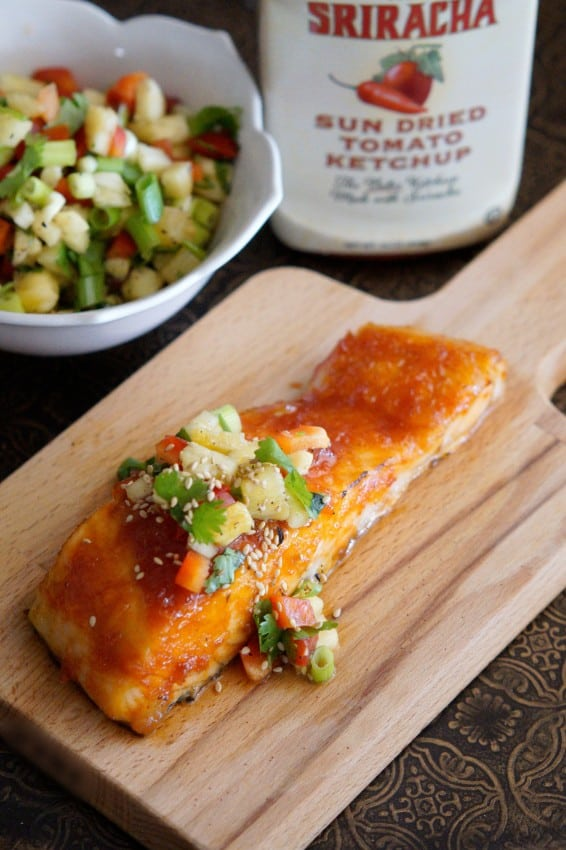 Sweet and Sour Sriracha Salmon