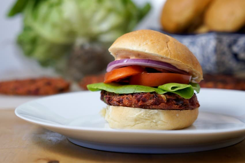 Red Veggie Burger