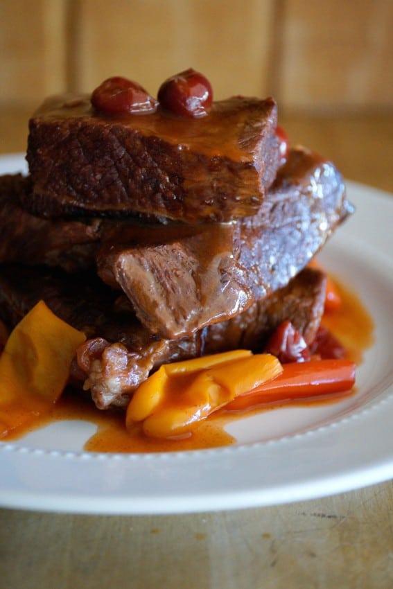 Cherry Braised Beef Ribs