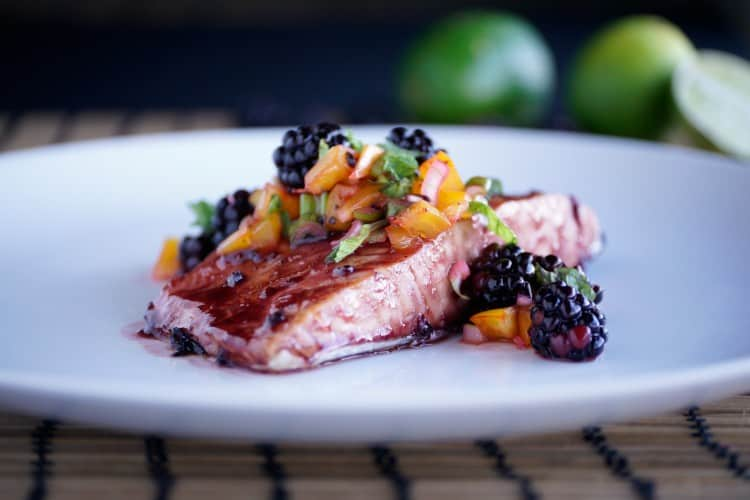 Blackberry Mojito Salmon - joaniesimon.com