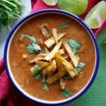 Chicken Tortilla Soup - JoanieSimon.com - an easy crock pot recipe for weeknight dinners