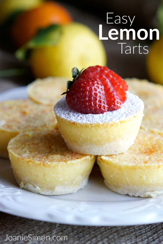 Easy Lemon Tarts with a twist of tangelo - a bright sunny way to celebrate spring