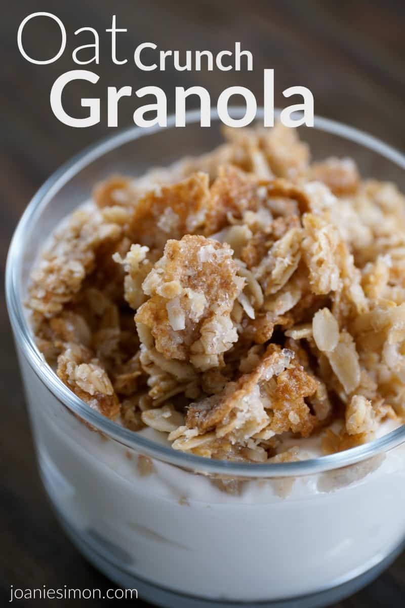 Grammy's Oat Crunch Granola - easy homemade granola with coconut
