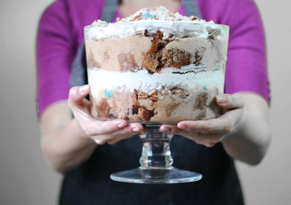 Carrot Cake Trifle in Hands