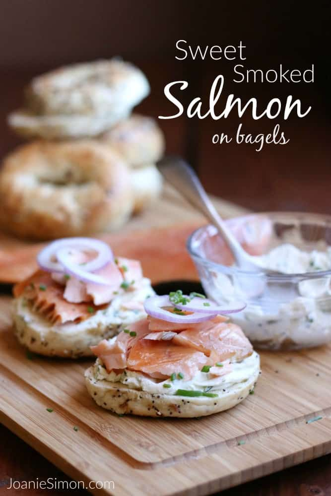Homemade Smoked Salmon on Bagels