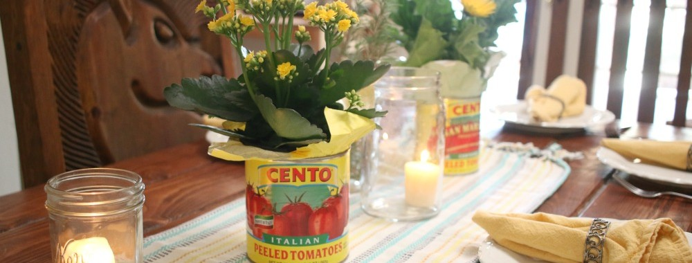 Italian Dinner Party Floral Centerpiece