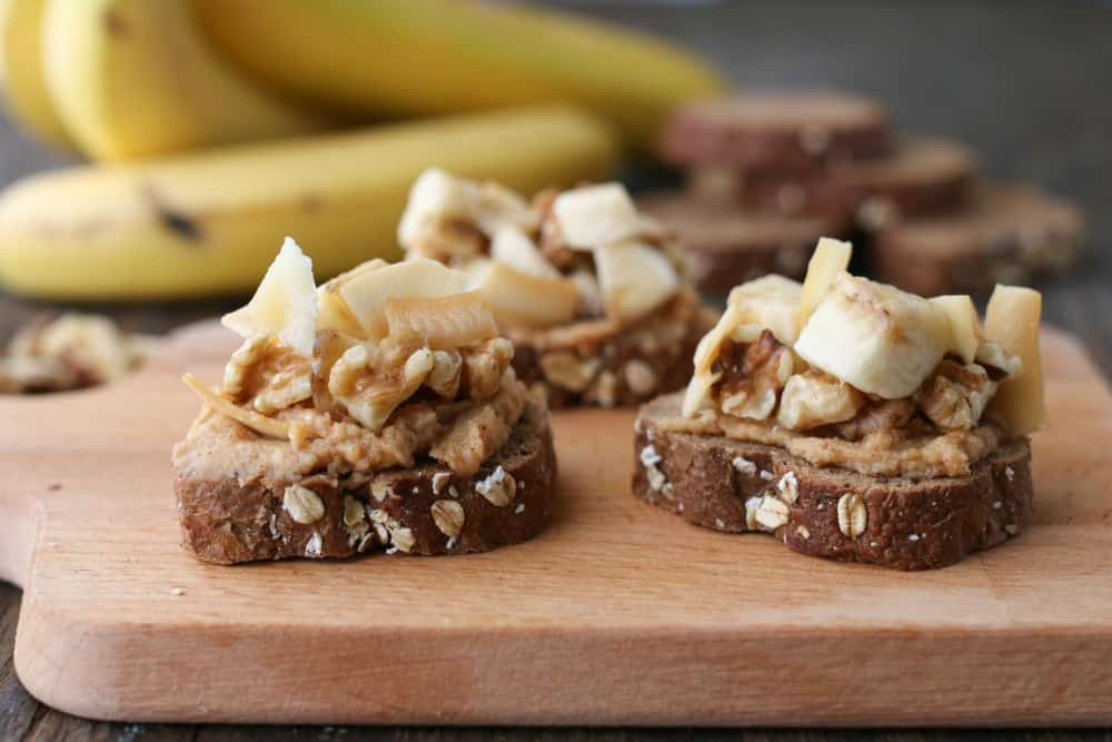 funky monkey banana bruschetta