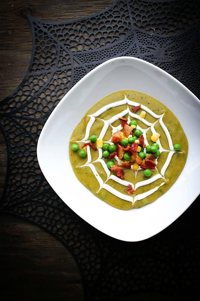 spooky split pea soup