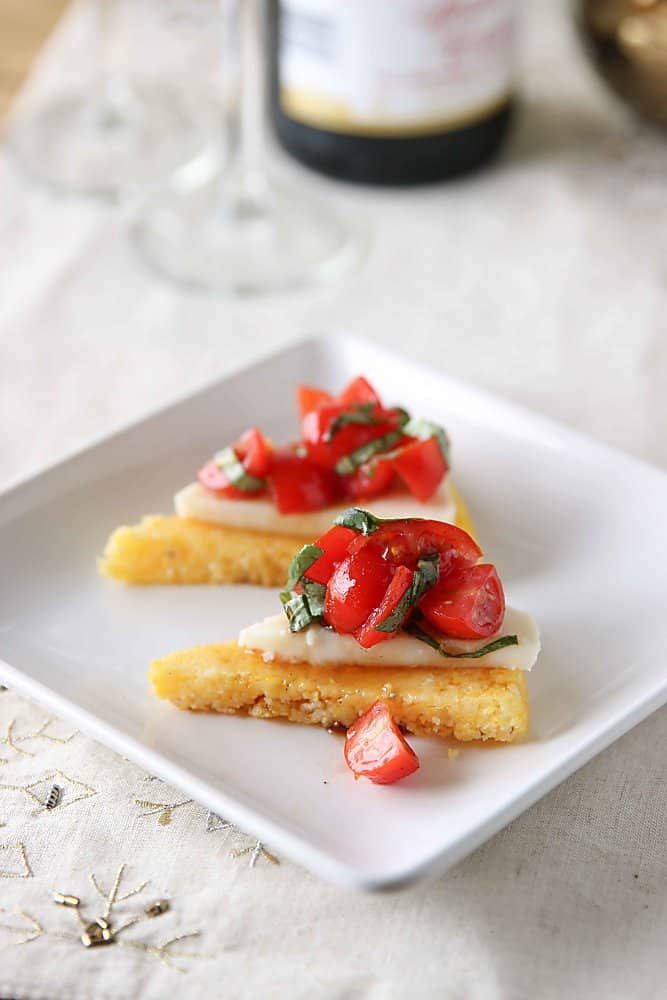 Polenta Caprese Appetizers