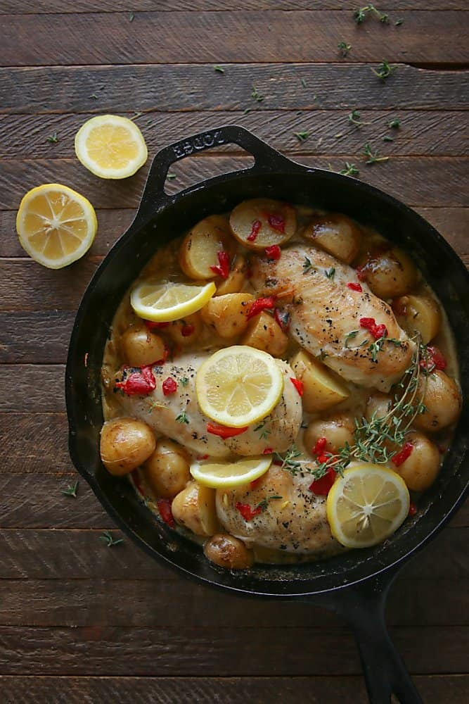Preserved Lemon Chicken Skillet with Potatoes