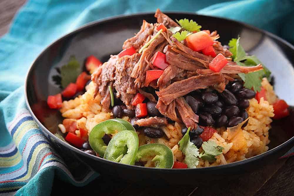 Instant Pot Barbacoa Burrito Bowl | Joanie SimonJoanie Simon