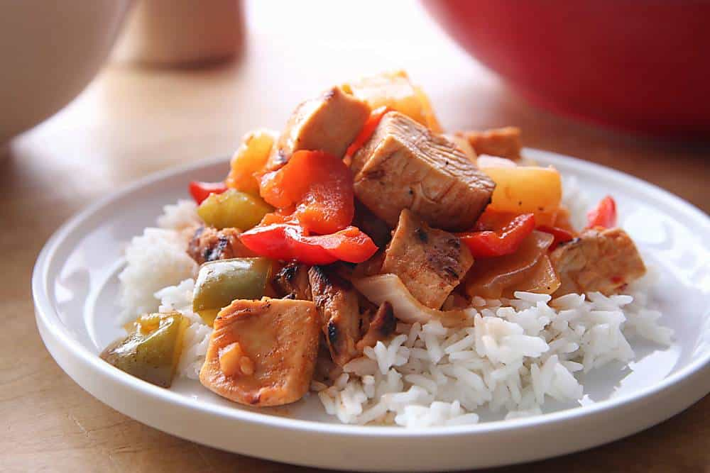 Sweet and Sour Chicken Lightened Up