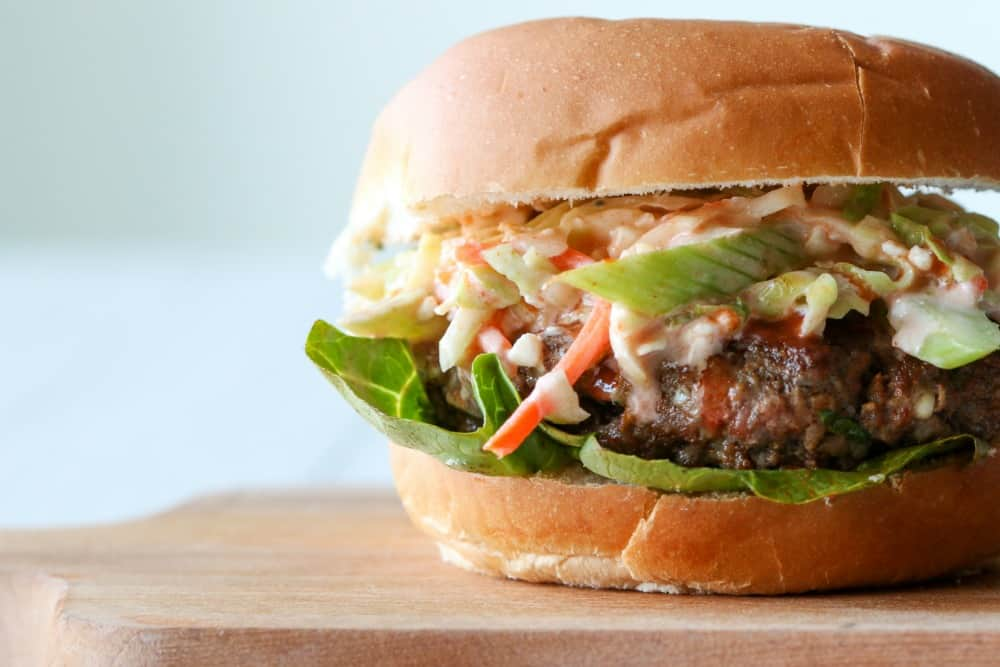 Buffalo Style Burger with Blue Cheese
