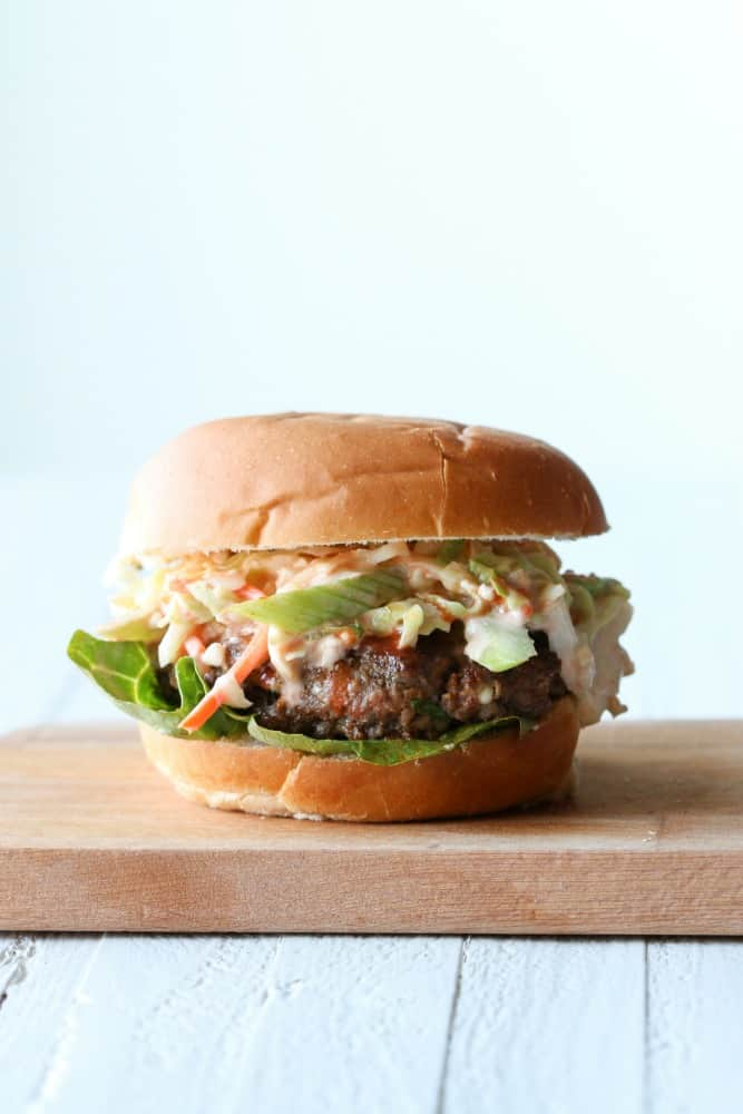 Buffalo Burger with Blue Cheese Slaw