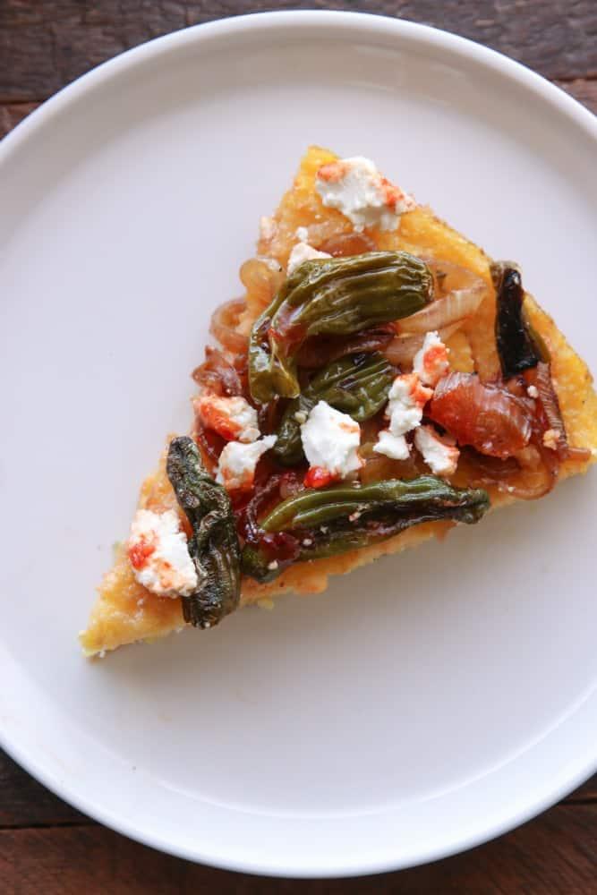 Skillet Polenta Pizza