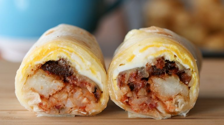 tater tot bacon cheese breakfast burrito