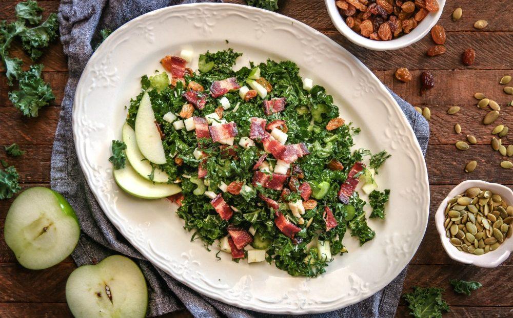 Kale Salad with Parmesan Vinaigrette