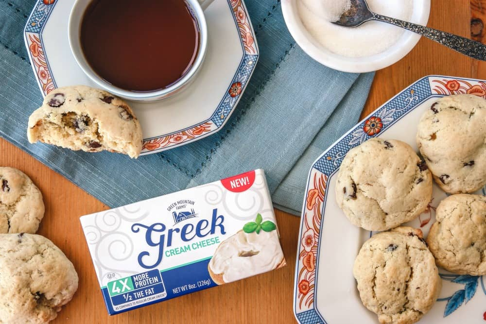 Greek Cream Cheese Chocolate Chip Soft Batch Cookies