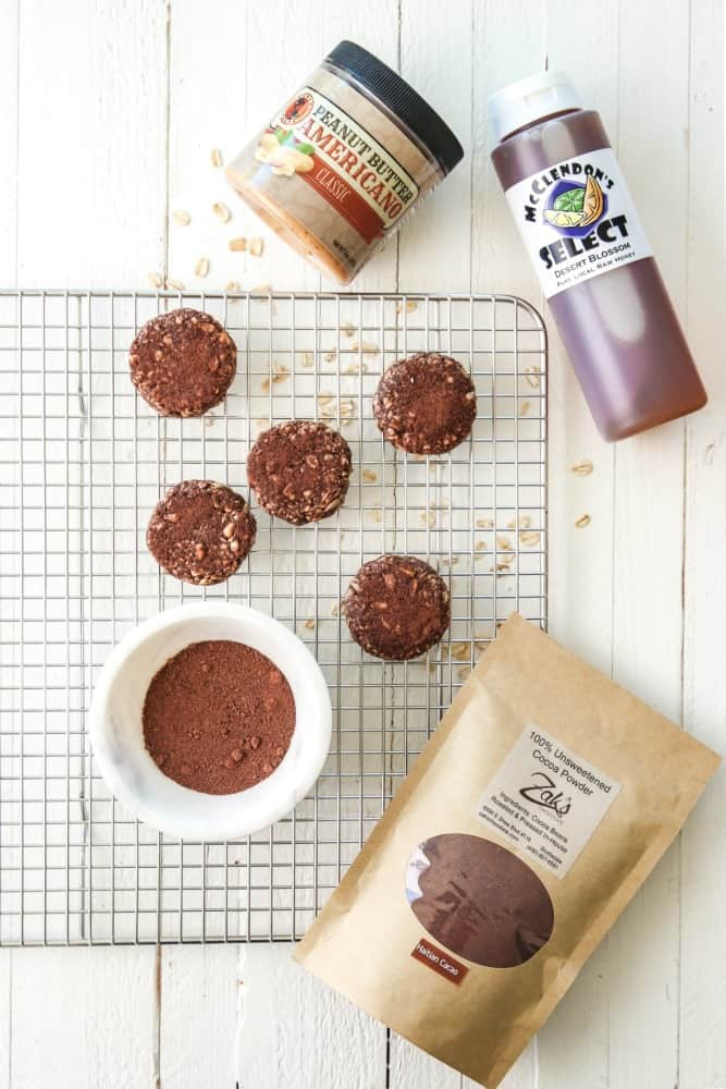 no bake peanut butter cocoa cookies