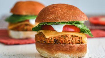 Pumpkin Veggie Burger