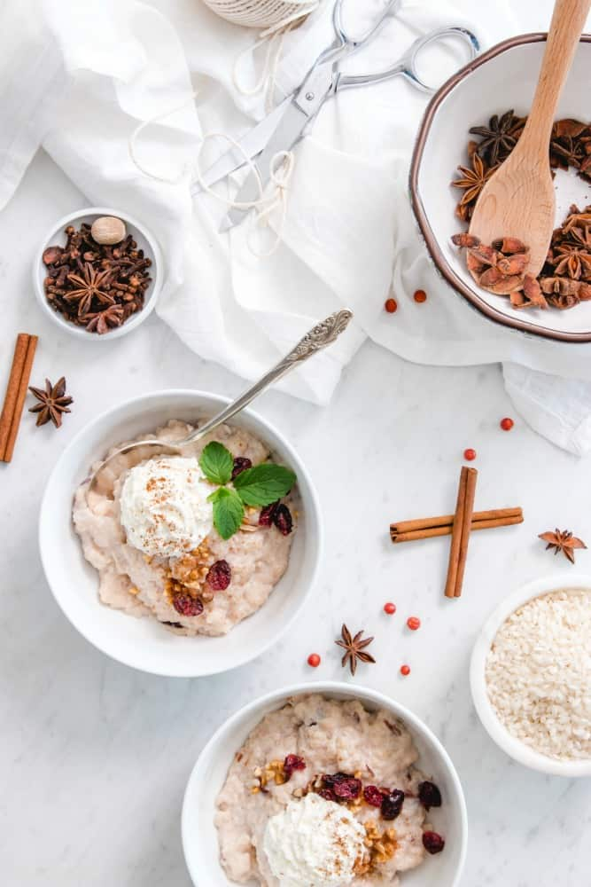Spiced Instant Pot Rice Pudding