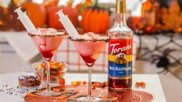 torani raspberry lime halloween floats
