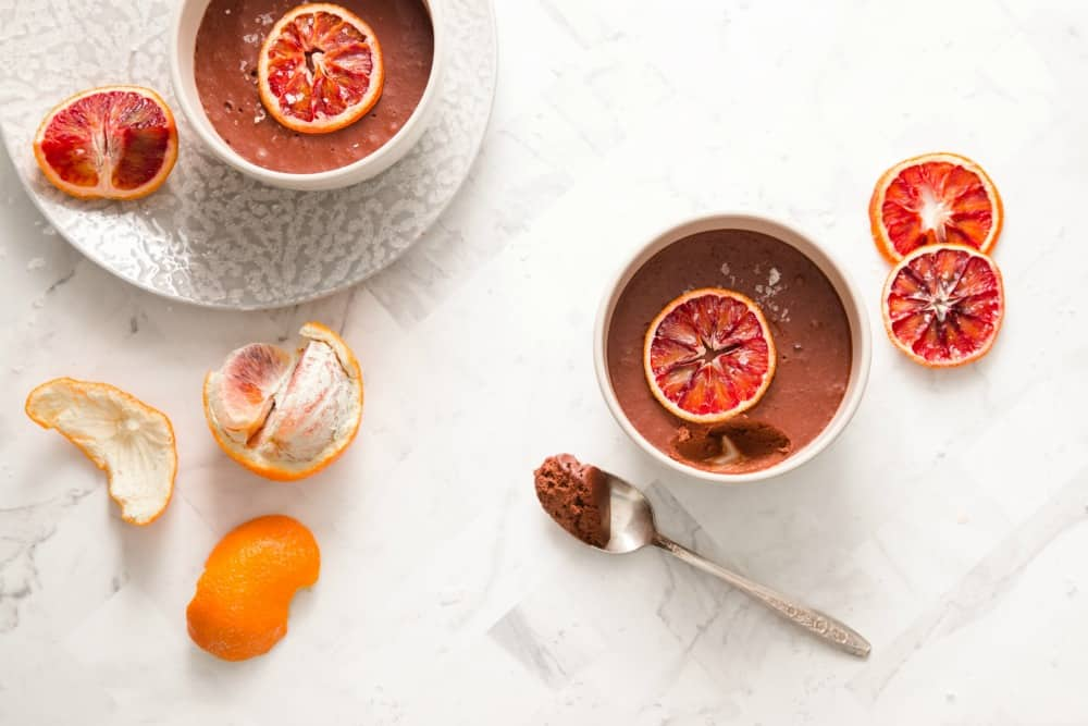 blood orange chocolate pots de creme