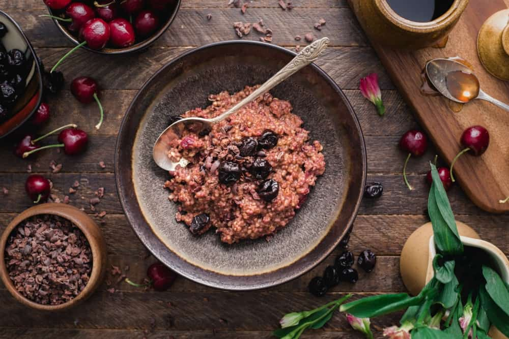 instant pot cherry chocolate steel cut oats - Joanie Simon