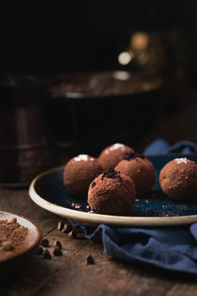 dark chocolate truffles sugar free