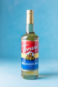 Bottle of Torani Macadamia Nut Syrup