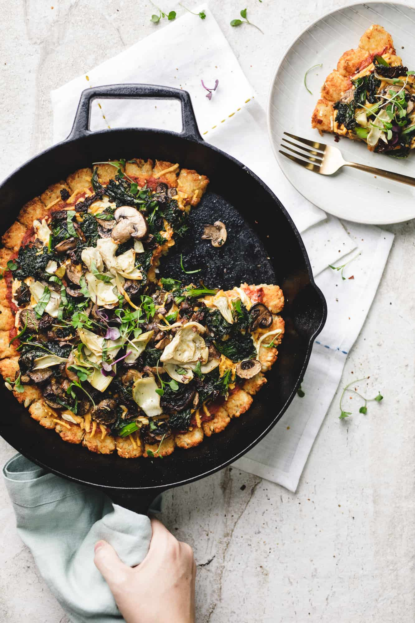 Vegan Tater Tot Pizza