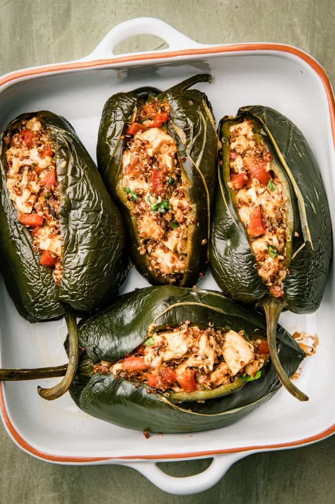 roasted poblano peppers stuffed with filling